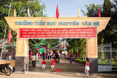 Trường TH Nguyễn Văn Bé long trọng tổ chức kỉ niệm 35 năm ngày thành lập trường